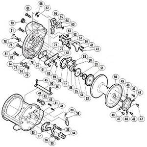 シマノ(SHIMANO) パーツ:海魂 EV 4000T A-RB 固定ボルト(B)(部品No.061) 01743 石鯛リールパーツ
