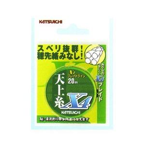 カツイチ(KATSUICHI) 天上糸X4 0.8号 蛍光イエロー