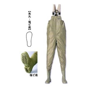 【送料無料】阪神素地 F-91 水産長靴(胸当付) 24.0cm ベージュ 191001