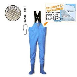 【送料無料】阪神素地 WW-92 ワークウェーダー(胸当付) 27.0cm ブルー 192121
