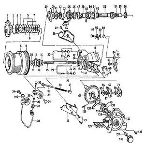 ダイワ(Daiwa) パーツ:スポーツマチック Z5500BR ラインガードシャフトリティナー No023 10F:051