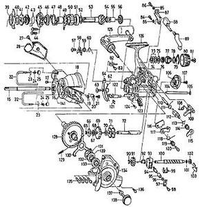 ダイワ(Daiwa) パーツ:スポーツマチック Z5500BR ウォームシャフトカラー B No102 110:223