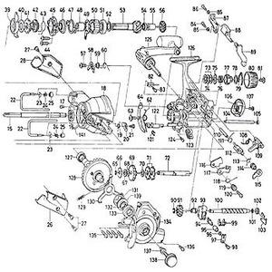 ダイワ(Daiwa) パーツ:スポーツマチック X5000BR ドライブベアリング B No133 10E:028