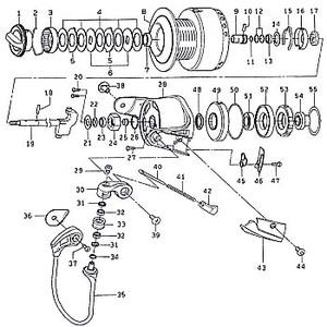 ダイワ(Daiwa) パーツ:ソルティガ Z6500EXP スプール 2-9チタンリング No008 128:192