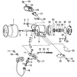 ダイワ(Daiwa) パーツ:T-ISO インパルト2000LB ローターロックプレートSC No006 10A:431 レバードラグ用その他パーツ
