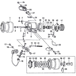 ダイワ(Daiwa) パーツ:トーナメント ISO インパルト2500LBD アームレバーシャフトSP No021 133:536 レバードラグ用その他パーツ