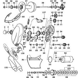 ダイワ(Daiwa) パーツ:シーボーグ 750メガツイン モーターギヤーシャフトリテイナー(部品No.019) 10F:001 電動リールパーツ