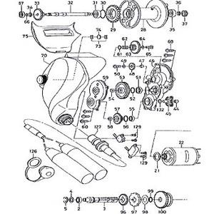 ダイワ(Daiwa) パーツ:シーボーグ Z500FT セットプレートギヤー(D)カラー(部品No.058) 110:504