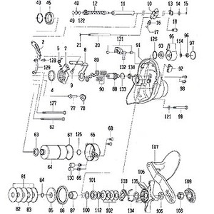 ダイワ(Daiwa) パーツ:シーボーグ 300FB スタードラグ(部品No.105) 125:098