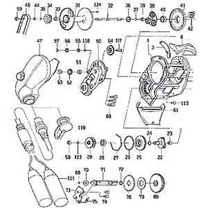 ダイワ(Daiwa) パーツ:シーボーグ 300FB セットプレートギヤーピン(部品No.117) 156:163