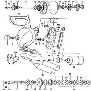 ダイワ(Daiwa) パーツ:シーボーグ 400BDe コネクターキャップ(部品No.104) 199:564 電動リールパーツ