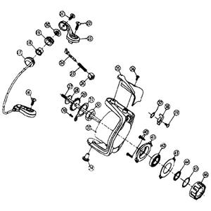 ダイワ(Daiwa) パーツ:スプリンター GL1500糸付 ローターロックプレートSC No030 10A:528