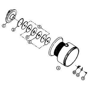 ダイワ(Daiwa) パーツ:スプリンター GL3500糸付 ドラグW No005 144:131