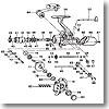 パーツ:トーナメントサーフベーシア 45-2極細 ハンドルキャップ No083