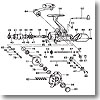 パーツ:トーナメントサーフベーシア 45-2極細 ハンドル No084