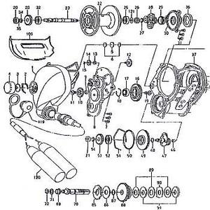 ダイワ(Daiwa) パーツ:シーボーグ 500EフカセSP メカニカルブレーキW(A)(部品No.005) 190:342 電動リールパーツ