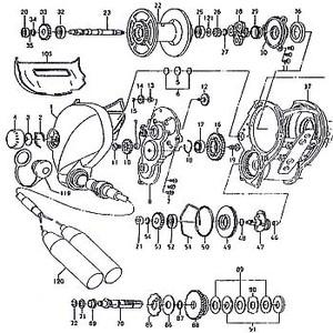 ダイワ(Daiwa) パーツ:シーボーグ 500EフカセSP メカニカルブレーキW(B)(部品No.006) 190:129 電動リールパーツ