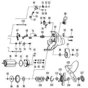 ダイワ(Daiwa) パーツ:ハイパータナコン 400FBe モーターホルダーSC(部品No.042) 10A:429