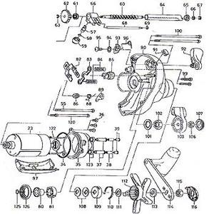ダイワ(Daiwa) パーツ:スーパータナコン S600W ウォームシャフトプッシュ(L)(部品No.061) 157:060 電動リールパーツ
