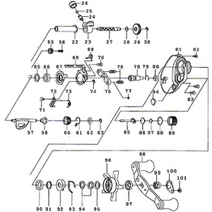 ダイワ(Daiwa) パーツ:スマックレッドチューン 100R ウォームシャフト No027 103:245 マグブレーキ用その他パーツ