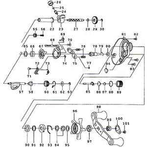 ダイワ(Daiwa) パーツ:スマックレッドチューン 100R ウォームシャフトギヤーW No028 190:803 マグブレーキ用その他パーツ