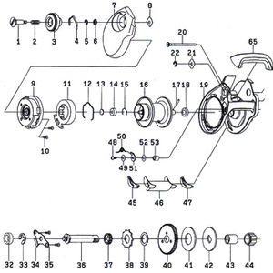 ダイワ(Daiwa) パーツ:スマック 100R スプール 16-18 No016 129:407 マグブレーキ用スプールパーツ