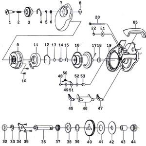 ダイワ(Daiwa) パーツ:スマック 100R フロントカバーSC No020 10A:633 マグブレーキ用その他パーツ
