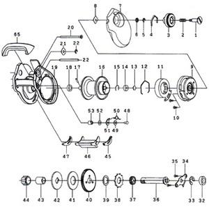 ダイワ(Daiwa) パーツ:スマック 100L ウォームシャフトリテイナー No022 10F:004 マグブレーキ用その他パーツ