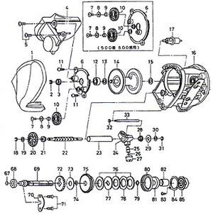 ダイワ(Daiwa) パーツ:スーパータナセンサー S300W スプールギヤー No003 112:222