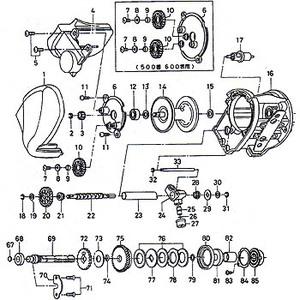 ダイワ(Daiwa) パーツ:スーパータナセンサー S500W ウォームシャフトギヤーW No019 190:045