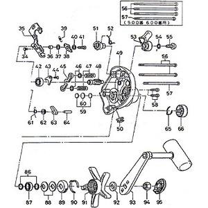 ダイワ(Daiwa) パーツ:スーパータナセンサー S500W RSプレートSC B No057 124:056