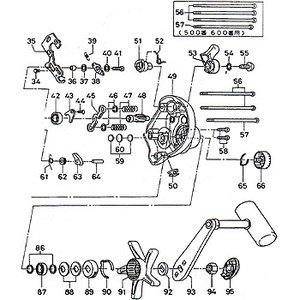 ダイワ(Daiwa) パーツ:スーパータナセンサー S500W ハンドルベアリング No087 10E:101