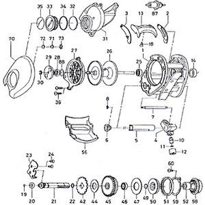 ダイワ(Daiwa) パーツ:ハイパー棚センサー 300真鯛 RSスプールベアリング No025 10E:095