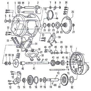 ダイワ(Daiwa) パーツ:シーラインレバードラグ 20-2 ドライブギヤー A No075 138:421