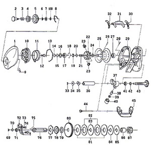 ダイワ(Daiwa) パーツ:STEEZ 103H セットプレート No010 137:172 マグブレーキ用その他パーツ