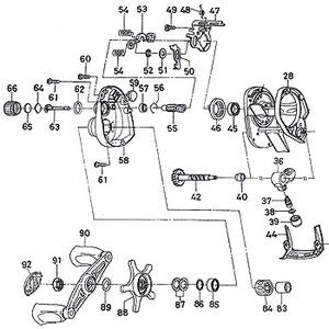 ダイワ(Daiwa) パーツ:アルファス103L TYPE-F メカニカルブレーキノブ No066 172:104 マグブレーキ用その他パーツ