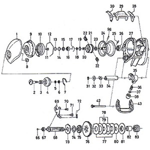 ダイワ(Daiwa) パーツ:TD-Z 103H タイプRプラス ポール No036 195:009 マグブレーキ用その他パーツ