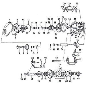 ダイワ(Daiwa) パーツ:TD-Z 103H タイプRプラス フロントカバー No043 162:043 マグブレーキ用その他パーツ