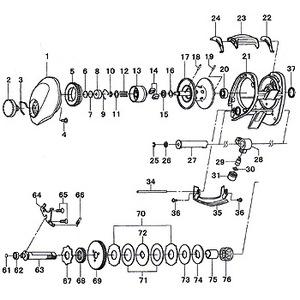 ダイワ(Daiwa) パーツ:SALTIST ハードロックフィッシュ スプールW B No016 190:604