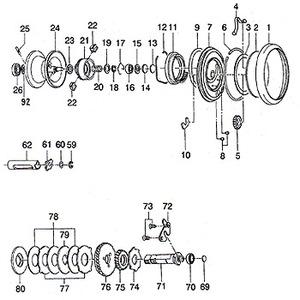 ダイワ(Daiwa) パーツ:MILベイキャスティング SP103L スプールホルダーSP No020 133:535