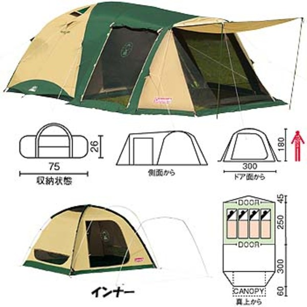 Coleman(コールマン) ワイドロッジ300EX 170T12900J ファミリードームテント