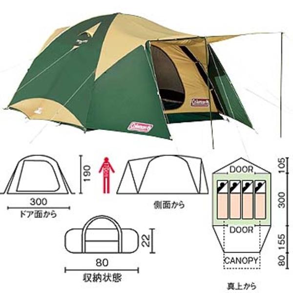 Coleman(コールマン) タフワイドドームテント300EX2 170T12600J ファミリードームテント
