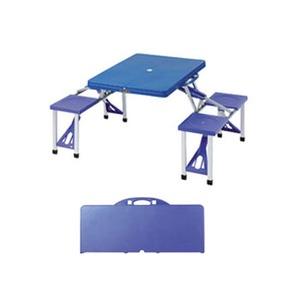 BUNDOK(バンドック) ピクニックテーブルセット ブルーxブルーパープル BD-190