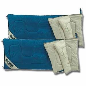 ロゴス(LOGOS) ST・三枚組丸洗寝袋/2枚セット