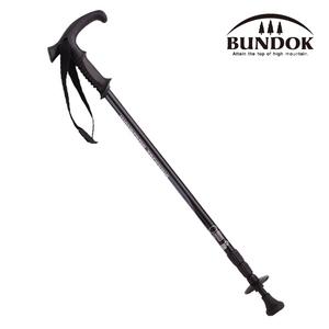 BUNDOK(バンドック) トレッキングポール システム3 BD-450BK スライド式T型グリップステッキ
