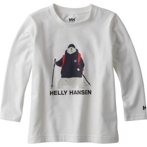 HELLY HANSEN(ヘリーハンセン) HJ31794 K L/S Bear Tee(ロング スリーブ ベア ティー キッズ) 120cm W(ホワイト)