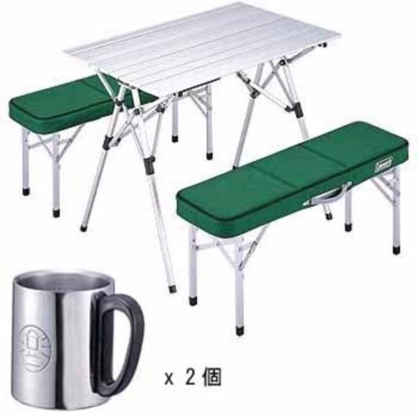 Coleman(コールマン) ピクニックベンチセット+ダブルステンレスマグ300(2個) 170-5652 テーブル・チェアセット