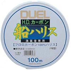 デュエル(DUEL) H.Dカーボン船ハリス 100M/1.5号 クリアー H1143