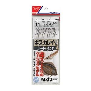 ハヤブサ(Hayabusa) キス・カレイ・五目 ボート&イカダ(2本×4セット) E-501 仕掛け