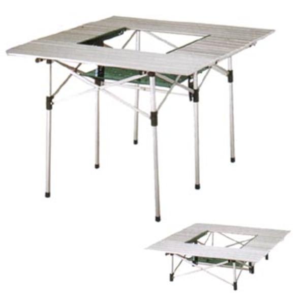 Coleman(コールマン) グリルラック付ツーウェイアルミロールテーブルスクエア 170-5612 バーベキューテーブル